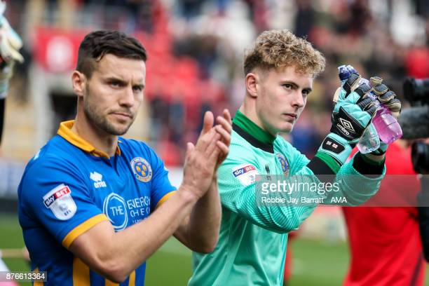 Dean Henderson of Shrewsbury Town during the Sky Bet League One match between Rotherham United and Shrewsbury Town at The New York Stadium on...