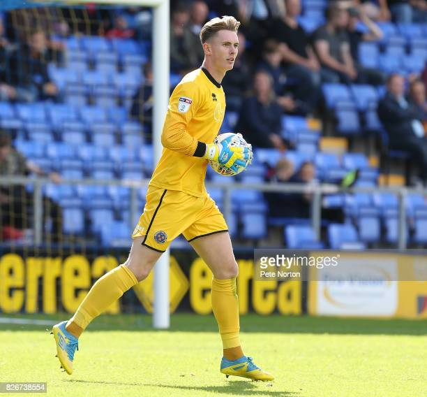 Dean Henderson of Shrewsbury Town in action during the Sky Bet League One match between Shrewsbury Town and Northampton Town at New Meadow on August...