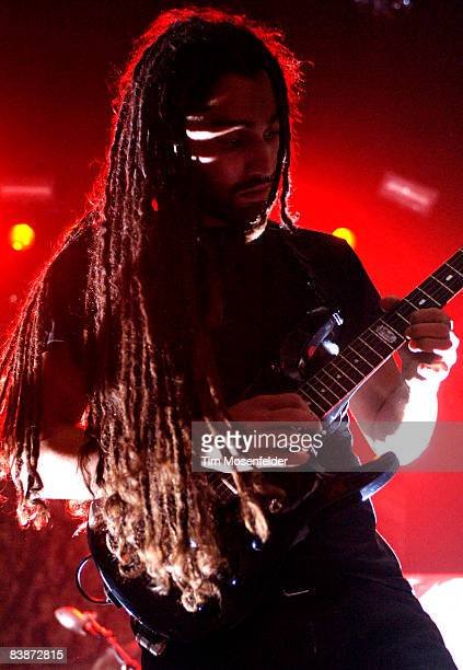 Dean Herrera of The Human Abstact performs in support of the bands' Midheaven release at the Grand Ballroom on November 30 2008 in San Francisco...