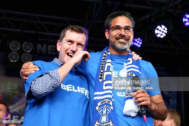 Dean Hoyle chairman / owner of Huddersfield Town and David Wagner head coach / manager of Huddersfield Town on May 30 2017 in Huddersfield England...