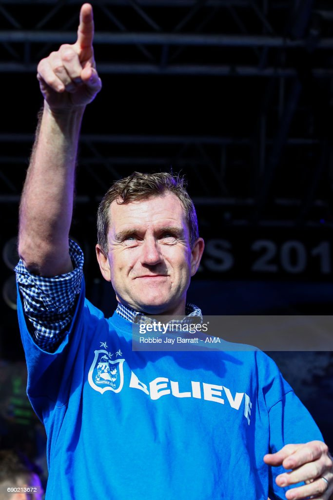 Dean Hoyle chairman / owner of Huddersfield Town on May 30, 2017 in Huddersfield, England.