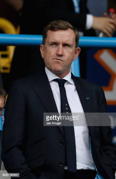 Dean Hoyle Huddersield Town owner looks on prior to the Premier League match between Huddersfield Town and Newcastle United at John Smith's Stadium...