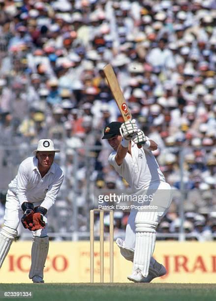 Dean Jones batting for Australia during the World Cup Final between Australia and England at Eden Gardens Calcutta India 8th November 1987 The...