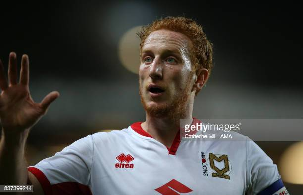 Dean Lewington of MK Dons during the Carabao Cup Second Round match between Milton Keynes Dons and Swansea City at StadiumMK on August 22 2017 in...