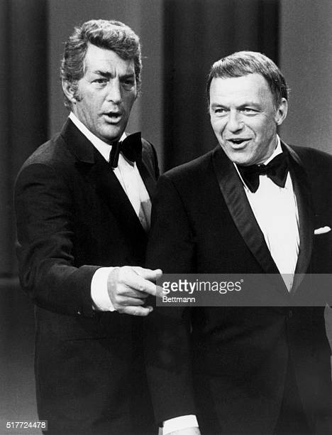 Dean Martin and his special guest Frank Sinatra perform a duet on The Dean Martin Show