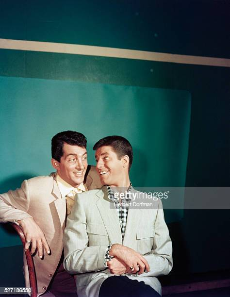 Dean Martin and Jerry Lewis Looking at Each Other