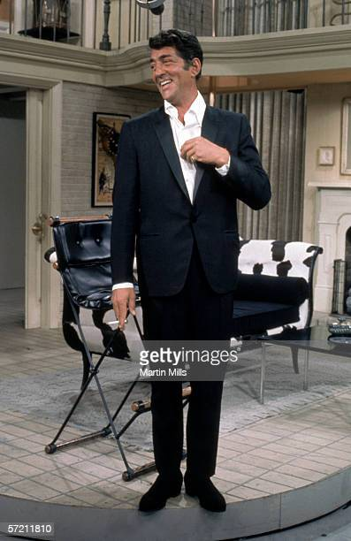 Dean Martin on the set during the taping of The Dean Martin Variety Show circa 1967 in Hollywood California