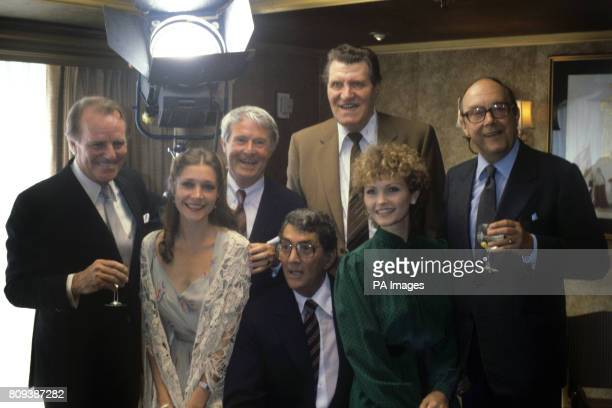 Dean Martin surrounded by celebrities From left Dickie Henderson Judy Buxton Ernie Wise Tommy Cooper Fiona Fullerton and Eric Morecambe