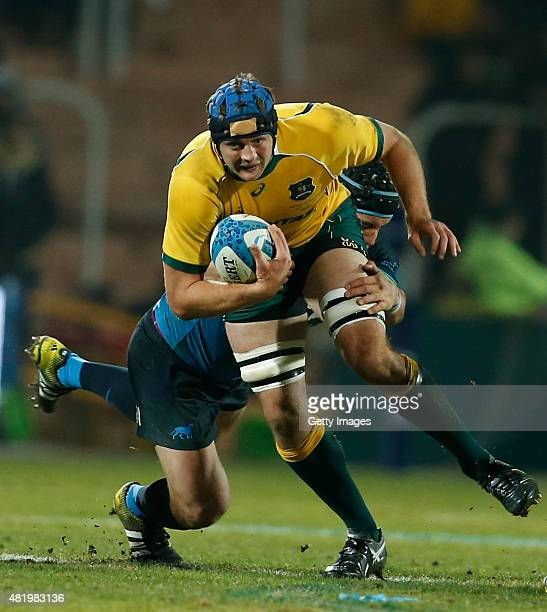 Dean Mumm of Australia fights for the ball with Tomas Lavanini of Argentina during a match between Australia and Argentina as part of The Rugby...