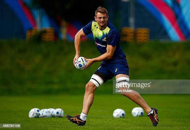 Dean Mumm of Australia in action during a training session at the University of Bath on September 15 2015 in Bath United Kingdom