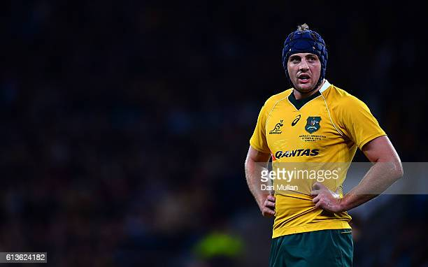 Dean Mumm of Australia looks on during the Rugby Championship match between Argentina and Australia at Twickenham Stadium on October 8 2016 in London...
