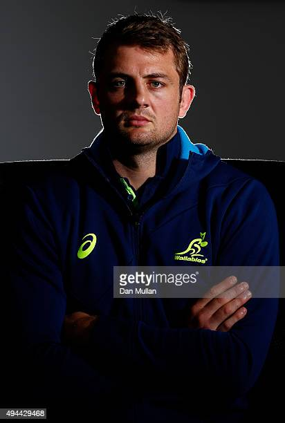Dean Mumm of Australia poses for a portrait during an Australia media session at The Lensbury Hotel on October 27 2015 in London United Kingdom