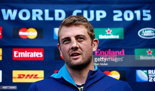 Dean Mumm of Australia speaks to the media during an Australia media session at the MacDonald Bath Spa Hotel on September 17 2015 in Bath United...