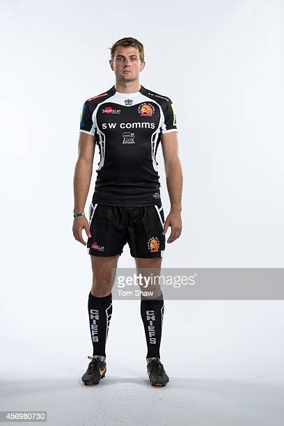 Dean Mumm of Exeter Chiefs poses for a picture during the BT Photo Shoot at Sandy Park on August 26 2014 in Exeter England