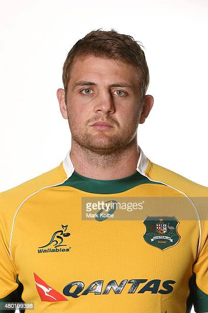 Dean Mumm poses during an Australian Wallabies headshots session at the Events Centre on July 8 2015 in Caloundra Sunshine Coast Australia