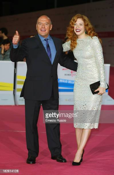 Dean Norris and Rachelle Lefevre attend the 'Under The Dome' premiere during the Fiction Fest 2013 at Auditorium Parco della Musica on October 1 2013...