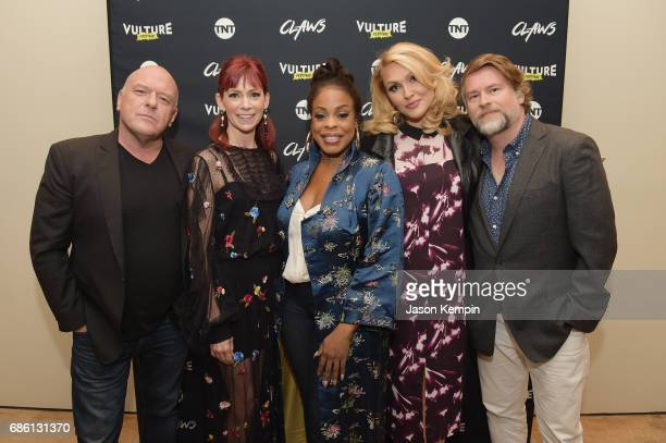 Dean Norris Carrie Preston Niecy Nash Jenn Lyon and Eliot Laurence attends the Claws and Cocktails event during TNT and TBS at Vulture Fest at Milk...