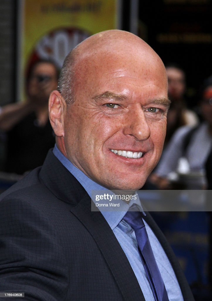<a gi-track='captionPersonalityLinkClicked' href=/galleries/search?phrase=Dean+Norris&family=editorial&specificpeople=4195761 ng-click='$event.stopPropagation()'>Dean Norris</a> leaves the 'Late Show with David Letterman' at Ed Sullivan Theater on August 19, 2013 in New York City.