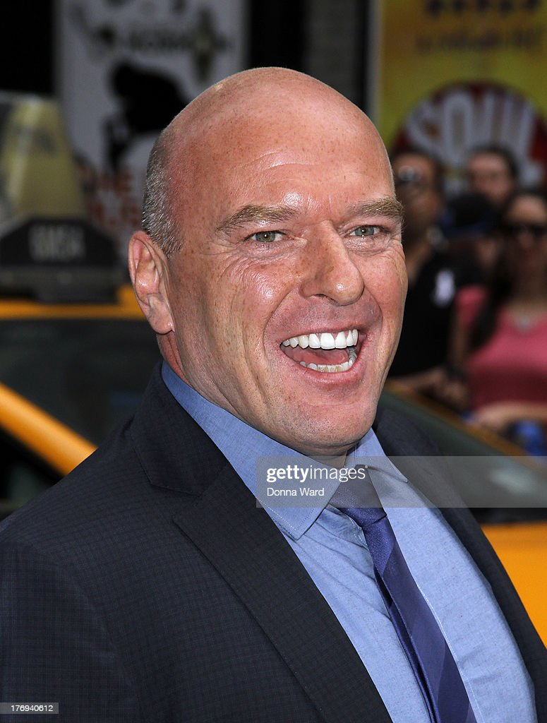 Dean Norris leaves the 'Late Show with David Letterman' at Ed Sullivan Theater on August 19, 2013 in New York City.