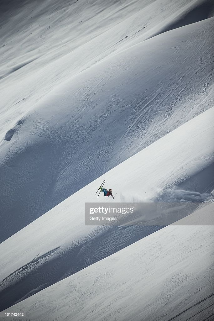 KC Dean of USA and Team Americas competes during day 1 of the Swatch Skiers Cup on February 10, 2013 in Zermatt, Switzerland.