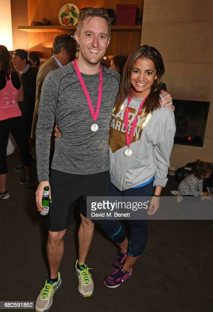 Dean Piper and Katy Wickremesinghe attend the Lady Garden brunch following the 5K 10K Fun Run in aid of Silent No More Gynaecological Cancer Fund at...