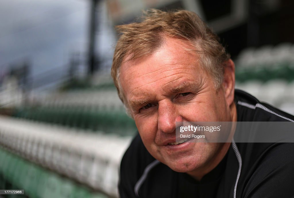 Dean Richards, director of rugby of Newcastle Falcons poses for a portrait at the photocall held at Kingston Park on August 21, 2013 in Newcastle upon Tyne, England.