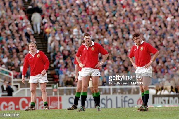 Dean Richards Martin Bayfield and Martin Johnson British Lions