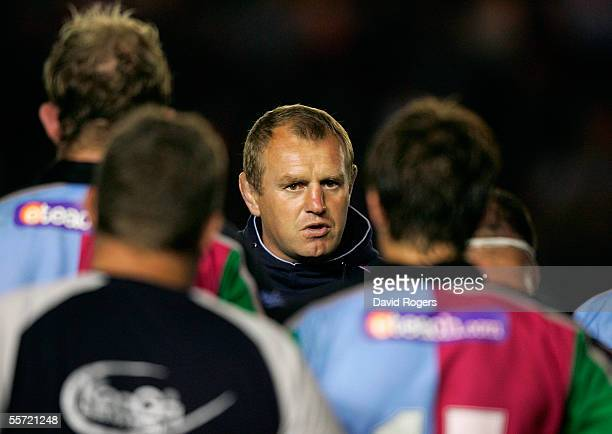 Dean Richards the Harlequins Coach pictured during the preseason friendly between NEC Harlequins and London Irish at The Stoop Memorial Ground on...