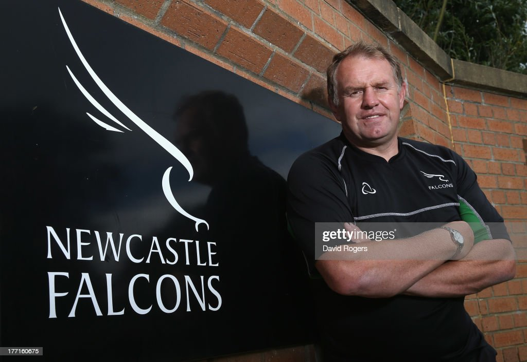 Dean Richards, the Newcastle Falcons' director of rugby, poses at the photocall held at Kingston Park on August 21, 2013 in Newcastle upon Tyne, England.