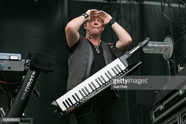 Dean Sams of Lonestar performs on stage at the Watershed Music Festival 2014 at The Gorge on August 2 2014 in George Washington