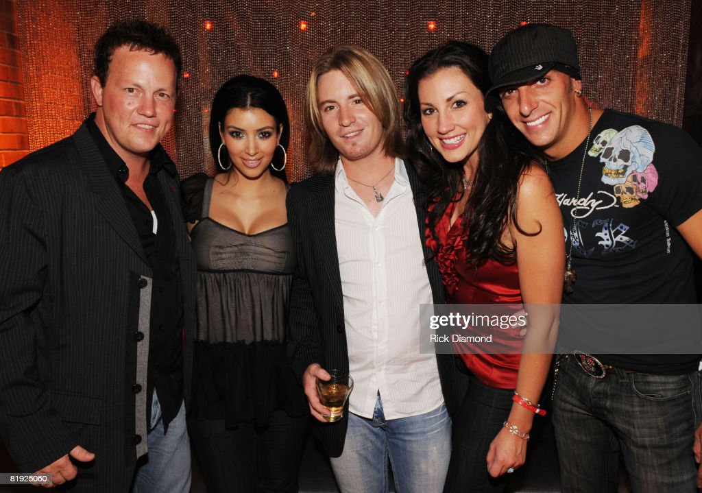 Dean Sams of Lonstar Kim Kardhashin Cody Collins of Lonestar Danielle Peck and Trent Tomlinson attend the opening of The New Fuse Nightclub at The...