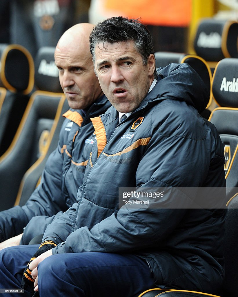 Dean Saunders, manager of Wolves looks on during the npower Championship match between Wolverhampton Wanderers and Cardiff City at Molineux on February 24, 2013 in Wolverhampton, England.
