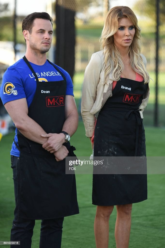 Dean Sheremet and Brandi Glanville in the LA Rams Tackle the Final 3 episode of MY KITCHEN RULES airing Thursday, Feb. 23 (9:01-10:00 PM ET/PT) on FOX.
