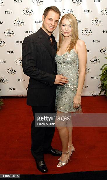 Dean Sheremet and LeAnn Rimes during 37th Annual CMA Awards Arrivals at The Grand Ole Opry in Nashville TN United States