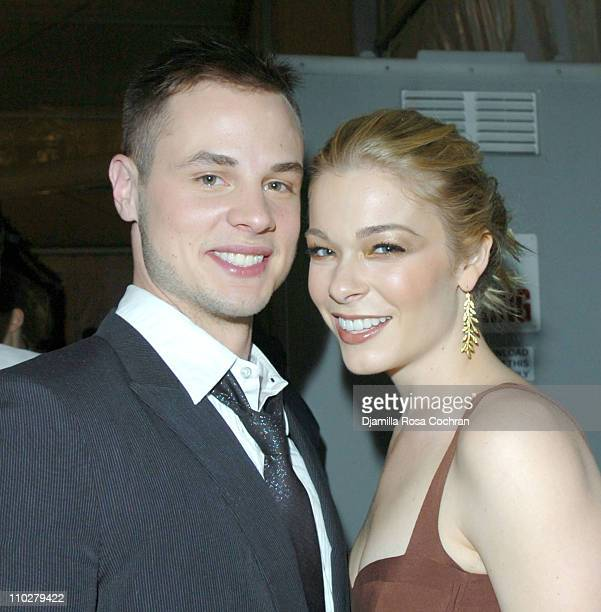 Dean Sheremet and LeAnn Rimes during Olympus Fashion Week Fall 2006 Seen Around Tent Day 6 at Bryant Park in New York City New York United States