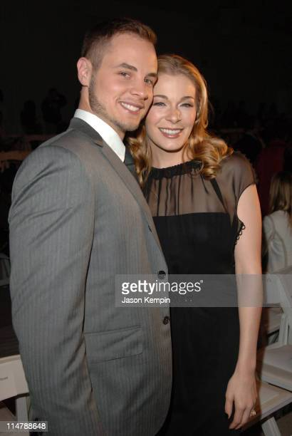 Dean Sheremet and LeAnn Rimes during Olympus Fashion Week Spring 2007 J Mendel Front Row and Backstage at The Promenade Bryant Park in New York City...