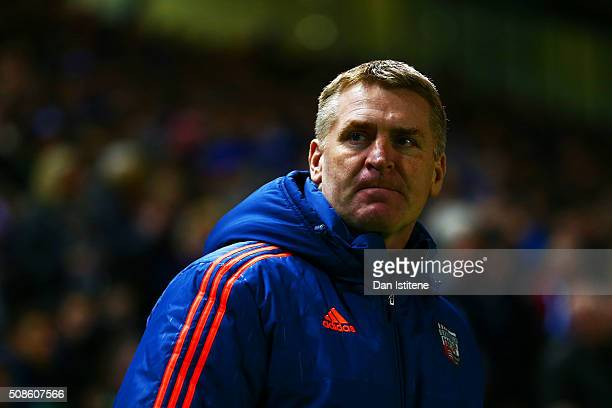 Dean Smith manager of Brentford looks on before the Sky Bet Championship match between Brighton and Hove Albion and Brentford at the Amex Stadium on...