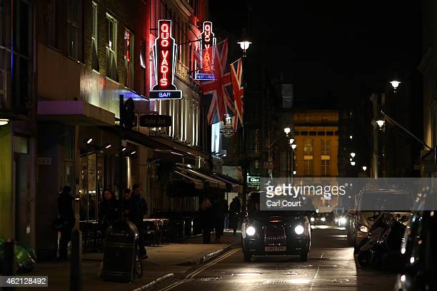 Dean Street is seen in Soho on January 19 2015 in London England A growing number of campaigners including Stephen Fry are pushing developers and...