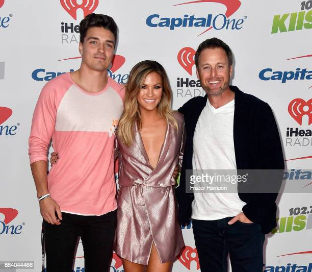 Dean Unglert Becca Tilley and Chris Harrison attend 1027 KIIS FM's Jingle Ball 2017 presented by Capital One at The Forum on December 1 2017 in...