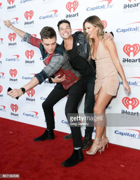Dean Unglert Wells Adams and Becca Tilley arrive at the 2017 iHeartRadio Music Festival at TMobile Arena on September 22 2017 in Las Vegas Nevada