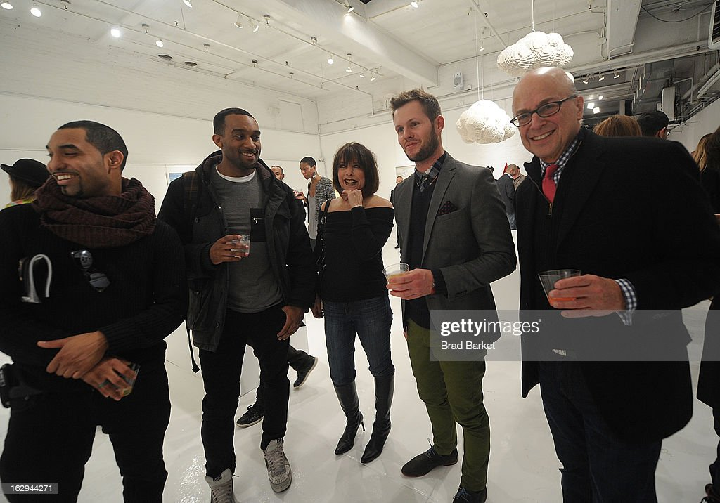 Dean West (C) attends the In Pieces Exhibition Opening at Openhouse Gallery on March 1, 2013 in New York City.