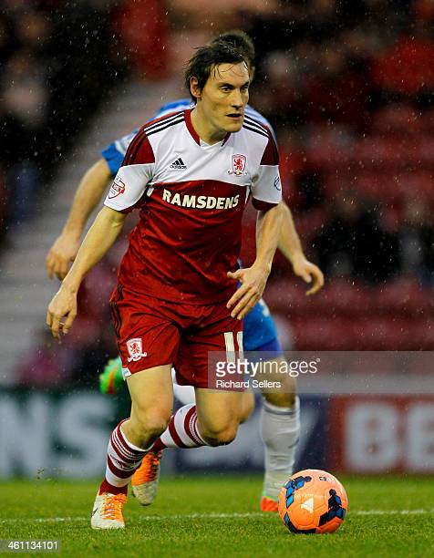 Dean Whitehead of Middlesbrough during the Budweiser FA Cup Third round match between Middlesbrough and Hull City at Riverside Stadium on January 04...