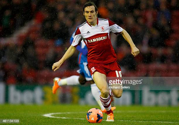 Dean Whitehead of Middlesbrough in action during the Budweiser FA Cup Third round match between Middlesbrough and Hull City at Riverside Stadium on...