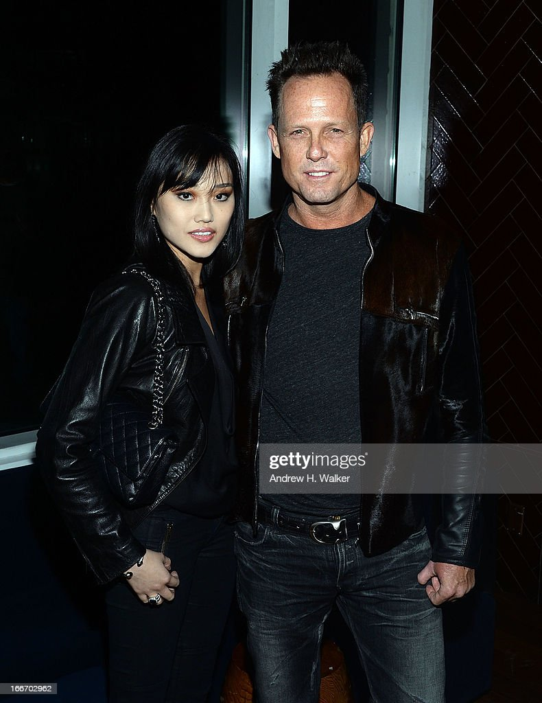 <a gi-track='captionPersonalityLinkClicked' href=/galleries/search?phrase=Dean+Winters&family=editorial&specificpeople=213293 ng-click='$event.stopPropagation()'>Dean Winters</a> (R) and guest attend the after party for the Cinema Society and Men's Fitness screening of 'Pain and Gain' at Jimmy At The James Hotel on April 15, 2013 in New York City.