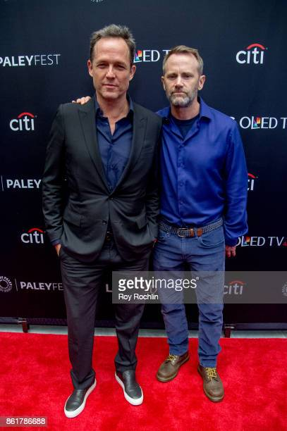 Dean Winters and Lee Tergsen attend the PaleyFest NY 2017 'Oz' reunion at The Paley Center for Media on October 15 2017 in New York City