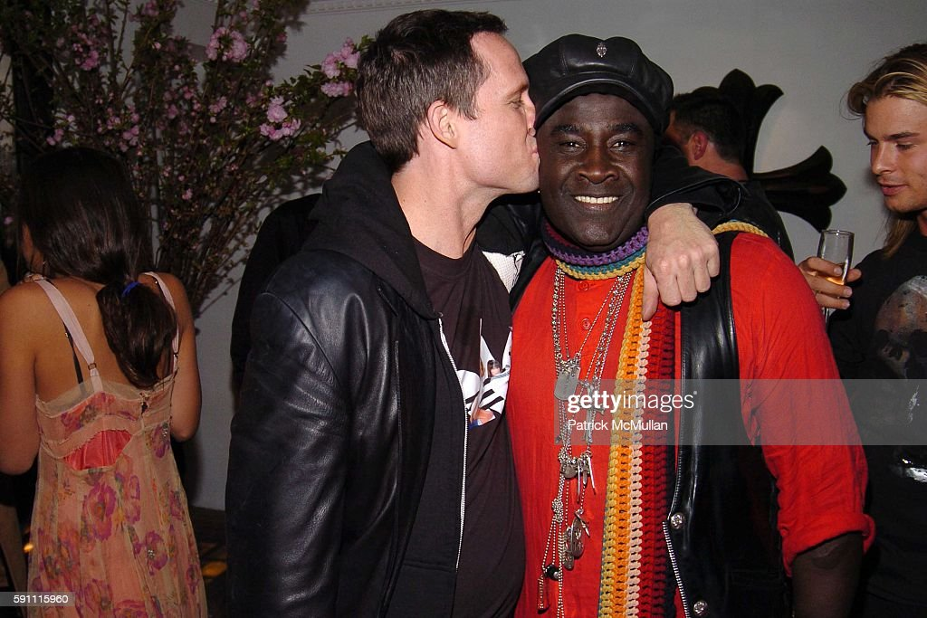 Dean Winters and Moko attend CHROME HEARTS Party for ELLE Accessories Magazine hosted by Richard Laurie Lynn Stark at Chrome Hearts on April 14 2005...
