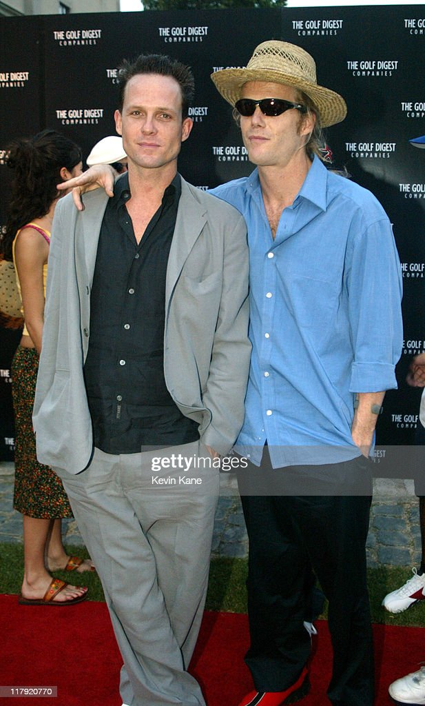 Dean Winters and Scott Winters during Golf Digest Companies Celebrates the 2002 U.S. Open Golf Championship at Oheka Castle in Cold Spring Hills, New York, United States.