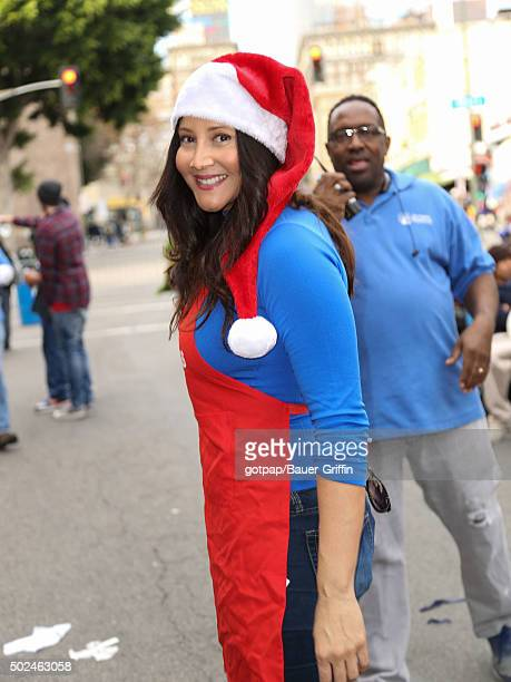 Deana Molle is seen at the annual Los Angeles Mission Christmas Dinner on December 24 2015 in Los Angeles California