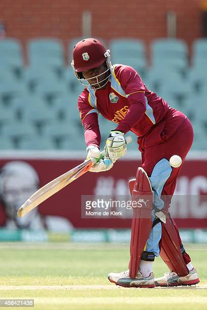 Deandra Dottin of the West Indies bats during game two of the International Women's Twenty20 series between Australia and the West Indies at Adelaide...
