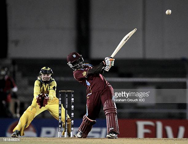Deandra Dottin of West Indies batting during the final between Australia and West Indies of the Women's World Cup India 2013 played at the Cricket...
